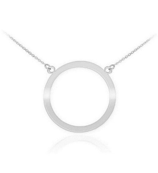 "925 Sterling Silver Circle of Life Pendant Karma Necklace- 18"" - C511JB7V6WL"