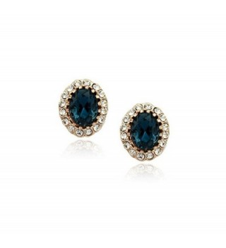 Sapphire Swarovski Elements Zirconia Earrings - CF11ZBF4PJ3