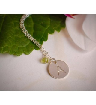 Initial Necklace Medium Sterling Personalized