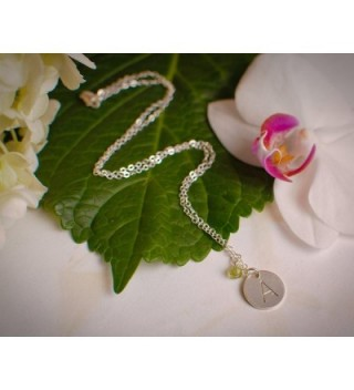 Initial Necklace Medium Sterling Personalized in Women's Chain Necklaces