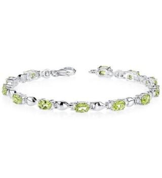 Peridot Bracelet Sterling Silver Oval Shape 5.50 Carats - C61141DWWMN