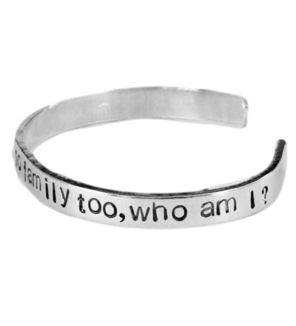 Orphan Black Inspired - Just One- I'm a Few- No Family Too- Who Am I - A Hand Stamped Aluminum Bracelet - C011JAFXY0Z