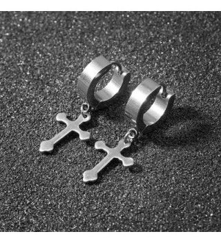 Stainless Cartilage Earrings Hinged Huggie