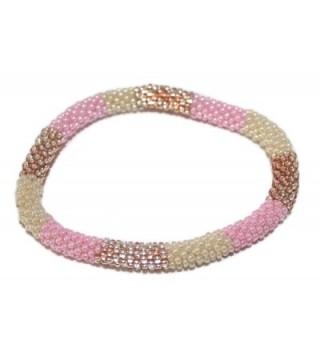 Crochet Glass Seed Bead Bracelet Roll on Bracelet Nepal Bracelet SB279 - CQ1290XRF9N