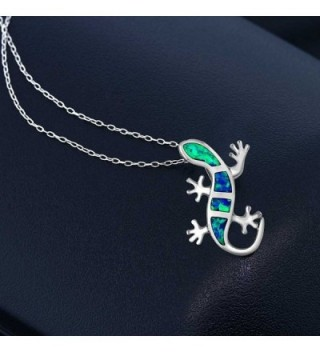 Sterling Silver Created Lizard Pendant in Women's Pendants