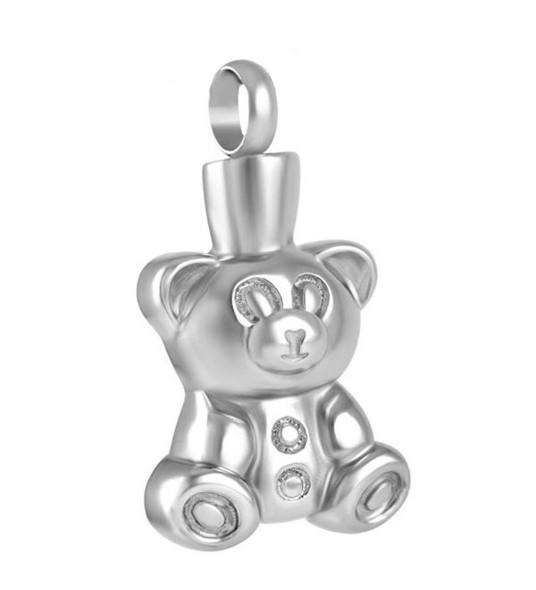 "Peerless Pieces Urn Necklace Cremation Memorial Keepsake Stainless Steel 20"" Teddy Bear Baby Child 87 - CV126FWI6PJ"