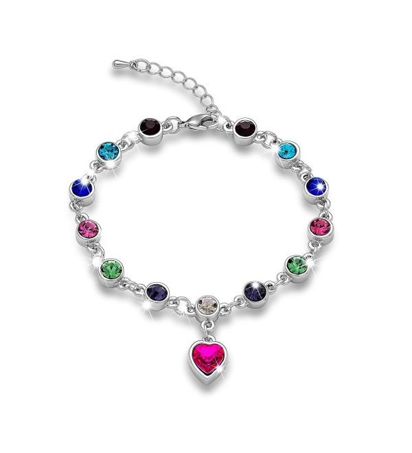 Gimuchy White/Rose Gold Plated SWAROVSKI Elements Crystal Bracelet-Austrian Crystal Jewelry 118 - C012HIR5KS1