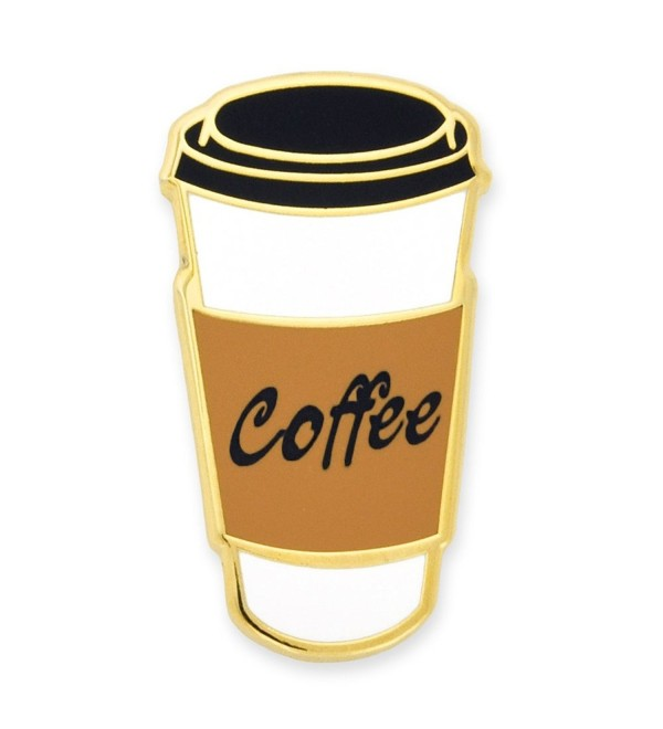 PinMart's Coffee To-Go Cup Trendy Enamel Lapel Pin - CZ12N9JJ609