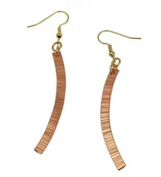 Chased Copper Drop Earrings By John S Brana Handmade Jewelry Durable Copper Earrings - CB12O87XDLR