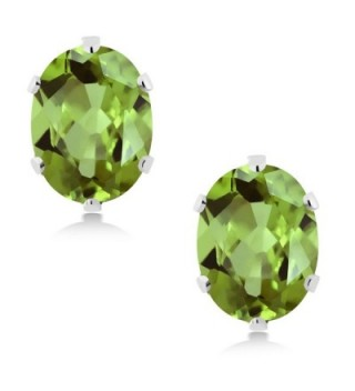 Sterling Peridot Gemstone Birthstone Earrings