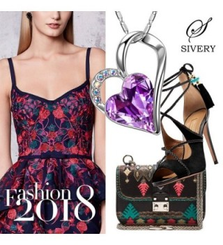 f97076dd3 Available. SIVERY 'Eternal Love' Women Heart Necklace with Swarovski Crystal-  Jewelry ...