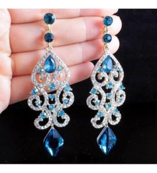 Janefashions Austrian Rhinestone Chandelier E2084 in Women's Drop & Dangle Earrings