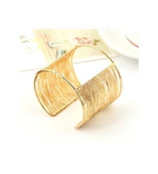 Gold Plated Wire Coil Bracelet