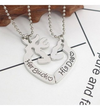 Heart Couple Engraved Pendant Necklace