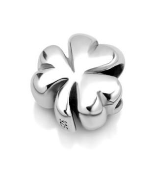 925 Sterling Silver Shamrock Clover Leaf Bead Charm Fit Major Brand Bracelet - CB11DM5NASZ