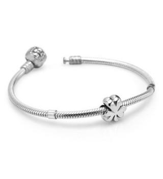 Sterling Silver Shamrock Clover Bracelet