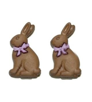 Chocolate Easter Bunny Stud Earrings (H138) - CR17WYG46UY