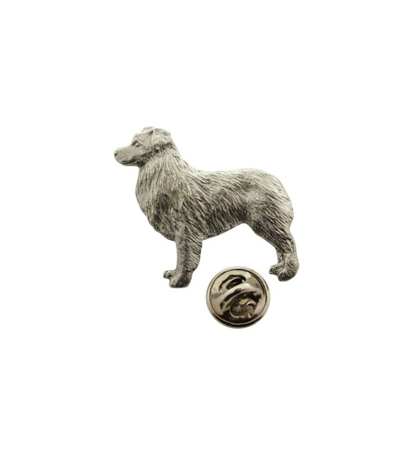 Australian Shepherd or Aussie Shepard Pin ~ Antiqued Pewter ~ Lapel Pin ~ Sarah's Treats & Treasures - CE12N32U30G