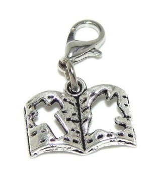 "Pro Jewelry Dangling ""Church Bible w/ Dove and Cross"" Clip-on Bead for Chain Link Charm Bracelets 10699 - CN11PW8TYMH"