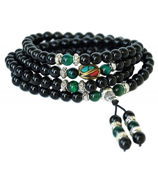 Om Shanti Crafts Bracelets Meditation - Green Tiger Eye - CL12LTUZ17N