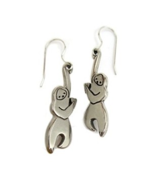 Mark Poulin Women's Pewter Earrings Little Hanging Sloth - CU11T9W04NP
