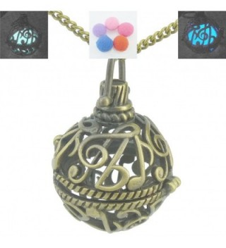 Music Notation Note Locket Necklace - Aromatherapy - Essential Oil - Glow in the Dark - CJ1297QBDLJ