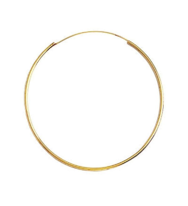 So Chic Jewels - 18k Gold Plated 70 mm Classic Creole Hoop Earrings - C71158DSO8B
