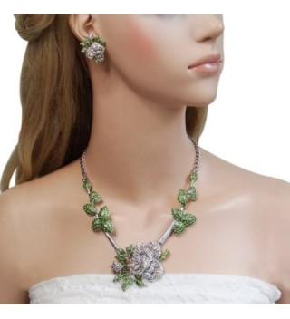 EVER FAITH Austrian Necklace Silver Tone