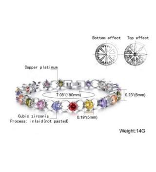 DIDa Platinum Plated Zirconia Bracelet