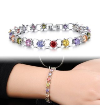 DIDa Platinum Plated Zirconia Bracelet in Women's Tennis Bracelets