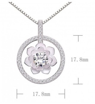ALOV Jewelry Sterling Zirconia Necklace