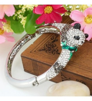 EVER FAITH Austrian Adorable Silver Tone in Women's Bangle Bracelets