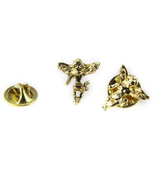 6030025 Guardian Angel Lapel Pin Tack Collar Hat Pin Brooch Protector - C1119K2SQM5
