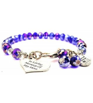 Sapphire Blue Crystal In Loving Memory Of My Mom Bracelet - CK11USR83FB
