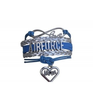 Airforce Mom Bracelet- Proud Airforce Mom Charm Bracelet - Makes Perfect Mom Gifts - CU12K37ONJP