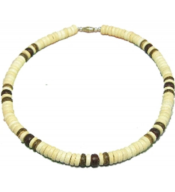 "Native Treasure - 18"" Coco Wood Bead Necklace - Blond Coco 3 Dark - 8mm (5/16"") - CI118S827D1"