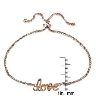 Flashed Sterling Polished Adjustable Bracelet in Women's Link Bracelets