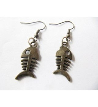 Ancient Earrings Skeleton oxidized Jewelry