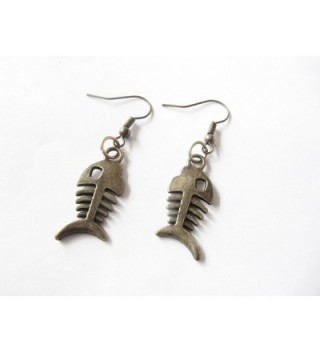 Ancient Earrings Skeleton oxidized Jewelry in Women's Drop & Dangle Earrings