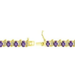 Flashed Sterling African Amethyst Bracelet