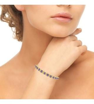 Flashed Sterling African Amethyst Bracelet in Women's Tennis Bracelets