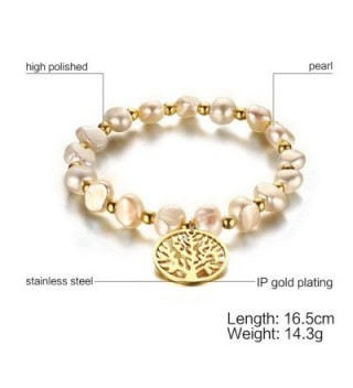Freshwater Pearl Stainless Tennis Bracelet