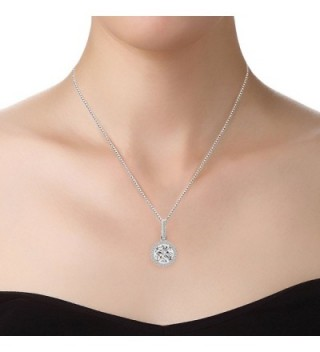 Sterling Pendant Necklace Zirconia SN010