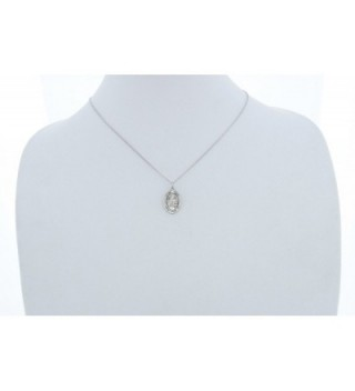Womens Sterling Silver Pendant Rhodium in Women's Pendants