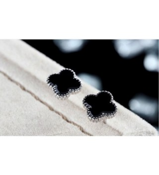 Sterling Silver Plated Clover Earrings in Women's Stud Earrings