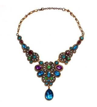 Ammazona Pendant Statement Crystal Necklace