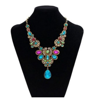 Ammazona Pendant Statement Crystal Necklace in Women's Chain Necklaces
