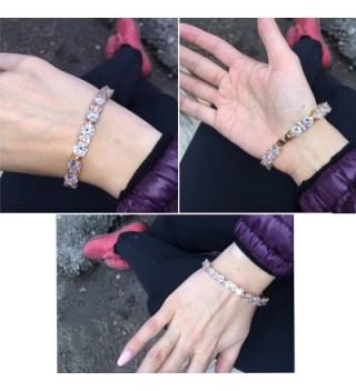 GULICX Womens Zirconia Plated Bracelet