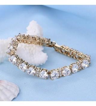 GULICX Womens Zirconia Plated Bracelet in Women's Tennis Bracelets