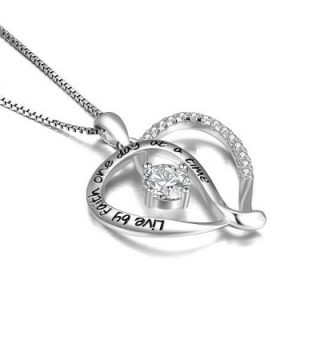 Jewelry Sterling Infinity Necklace Engraved in Women's Pendants